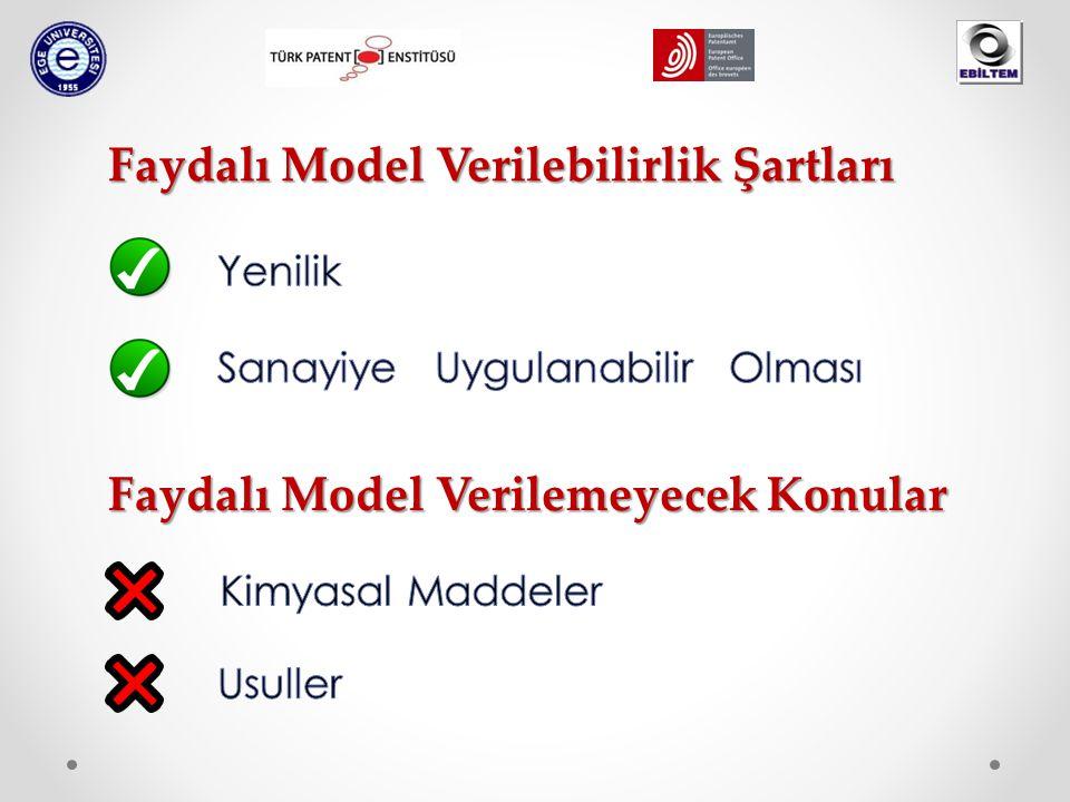 Faydalı Model Verilemeyecek Konular Faydalı Model Verilebilirlik Şartları