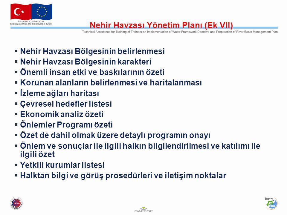 Önlemler Programı (Madde 11)  Yüzey ve yeraltı sularının kalite ve miktarı  Mevcut AB yaptırımları  Diğer direktif ve yönetmelikler kapsamında Ör.