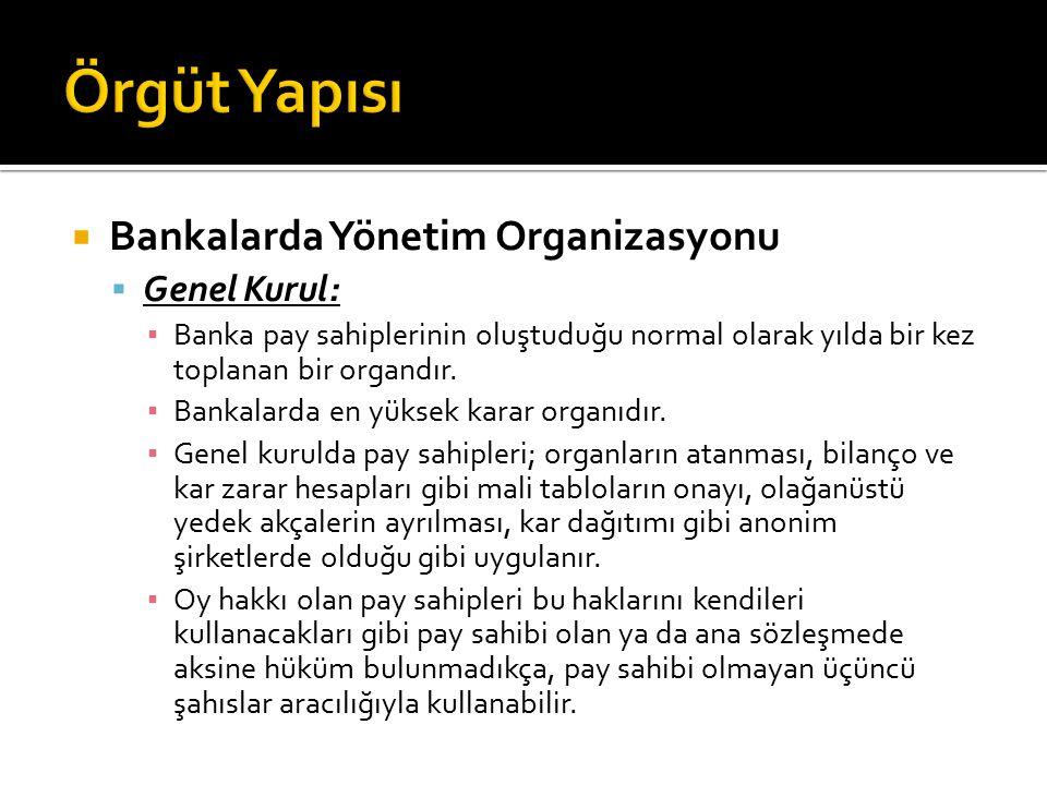  Yönetim Kurulu:  Genel kuruldan sonra en yetkili organ yönetim kuruludur.