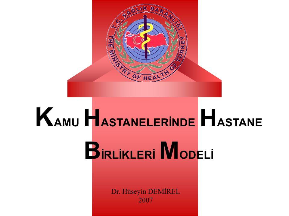 K AMU H ASTANELERİNDE H ASTANE B İRLİKLERİ M ODELİ Dr. Hüseyin DEMİREL 2007