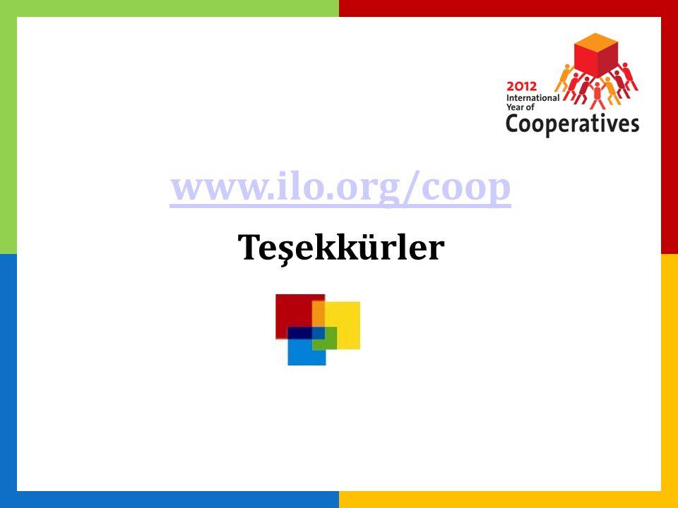 www.ilo.org/coop Teşekkürler