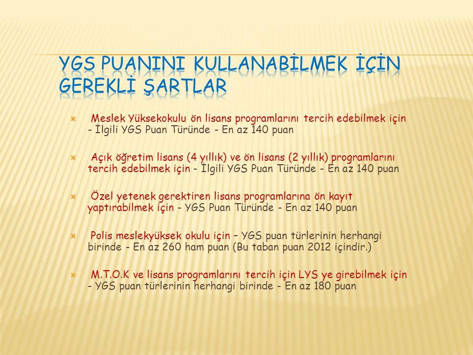 YGS'de 180 Puan Barajını Geçemeyen Öğrenciler İkinci Aşama Olan LYS Sınavlarına Giremeyeceklerdir!!.