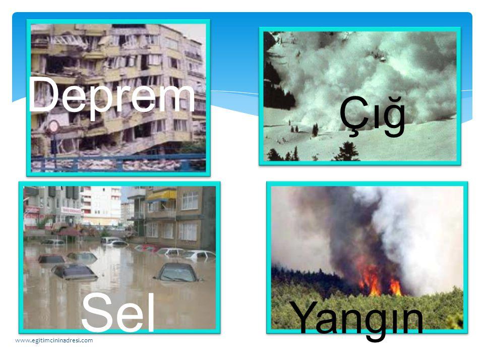 DOĞAL AFETLER www.egitimcininadresi.com