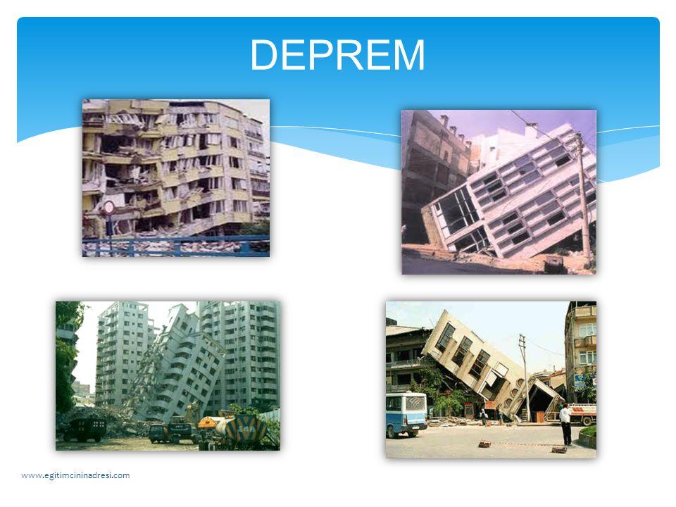 SEL 1- Sel baskını olabilecek yerlere bina yapmamalıyız. 2- Şehirlerin alt yapısını iyi planlamalıyız. www.egitimcininadresi.com