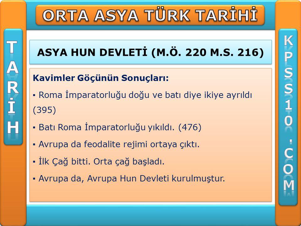 UYGURLAR (745-840) ▪ Uygurlar matbaayı ve kağıdı kullanan ilk Türk devletidir.