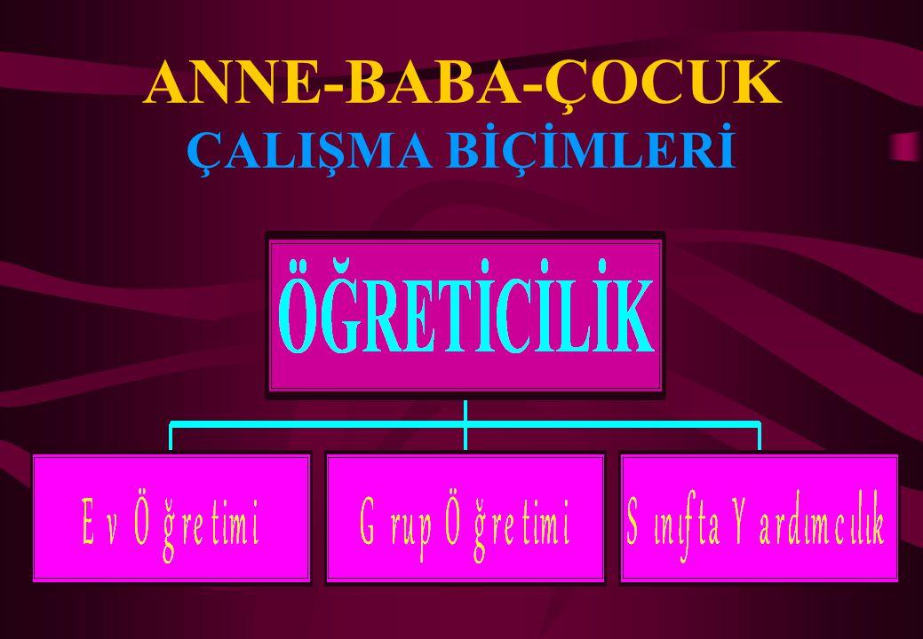 ANNE-BABA-ÇOCUK ÇALIŞMA BİÇİMLERİ