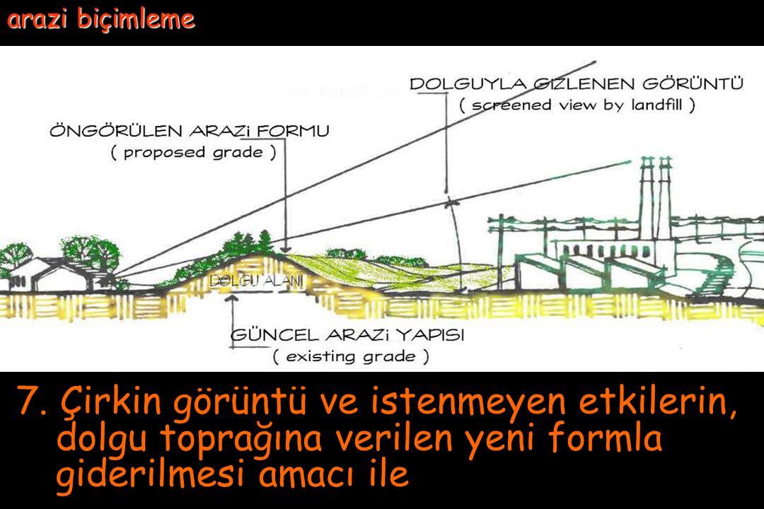 6.3 Duvarların üstünden çevreyi algılamaya çalışmak yerine; yapı ve tesislerin konum ve yükseklikleri, çevreye saygılı duruma getirilir