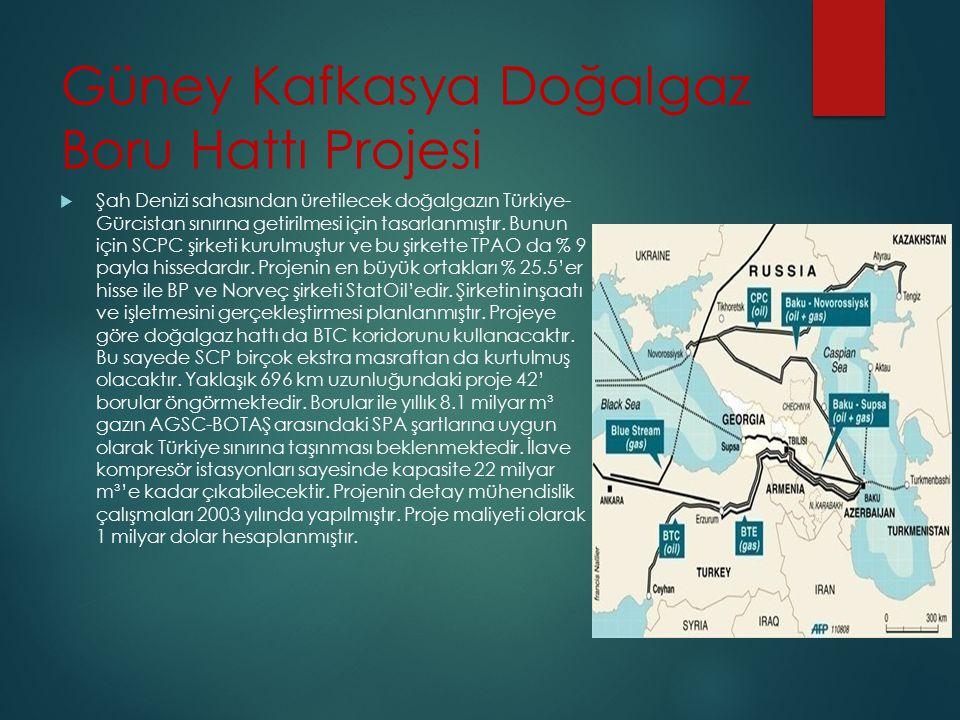 Güney Kafkasya Doğalgaz Boru Hattı Projesi  Şah Denizi sahasından üretilecek doğalgazın Türkiye- Gürcistan sınırına getirilmesi için tasarlanmıştır.
