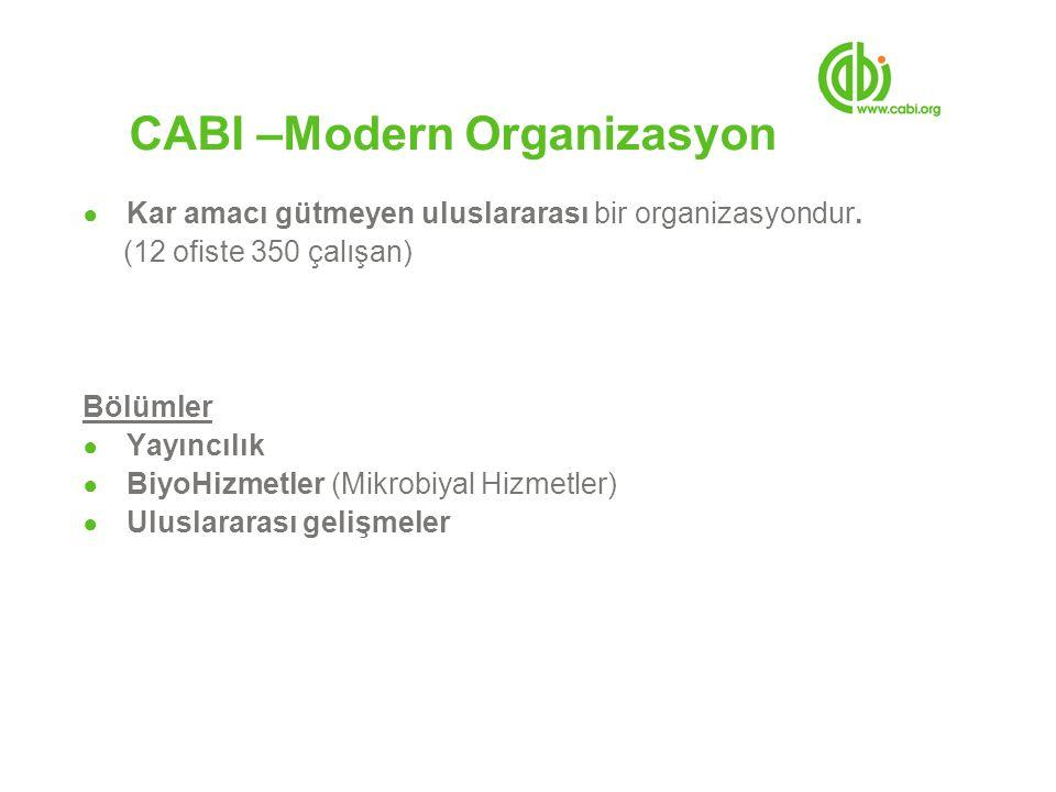 CAB Abstracts 2008 Önemli Gelişmeler ● Zengin gelişmiş içerik - 280,000 yeni kayıt eklenmiştir.