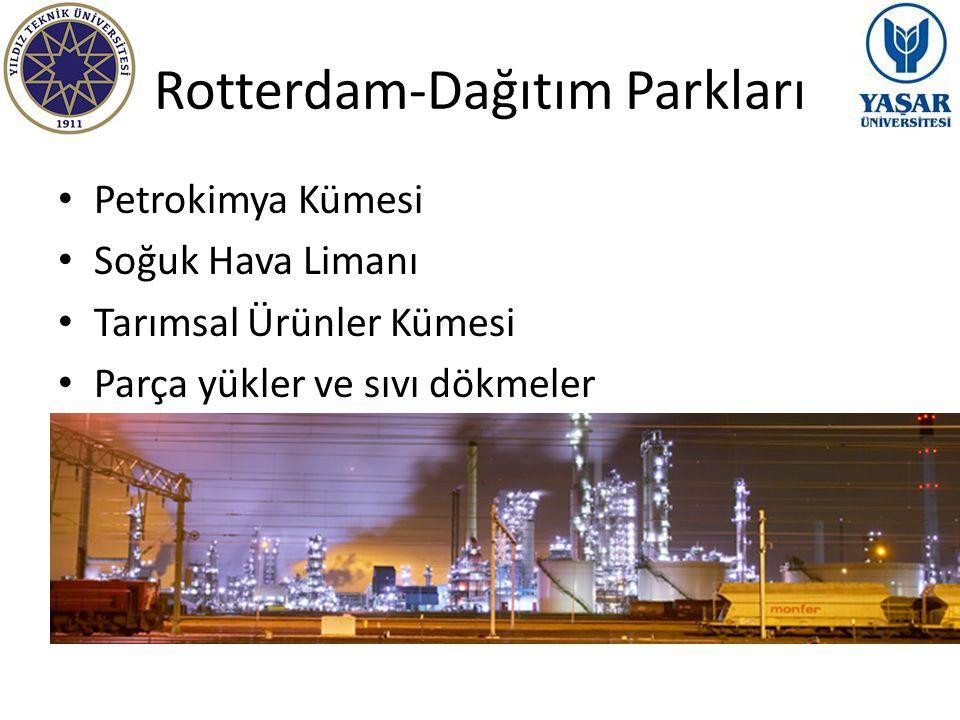 Rotterdam-Dağıtım Parkları Petrokimya Kümesi Soğuk Hava Limanı Tarımsal Ürünler Kümesi Parça yükler ve sıvı dökmeler