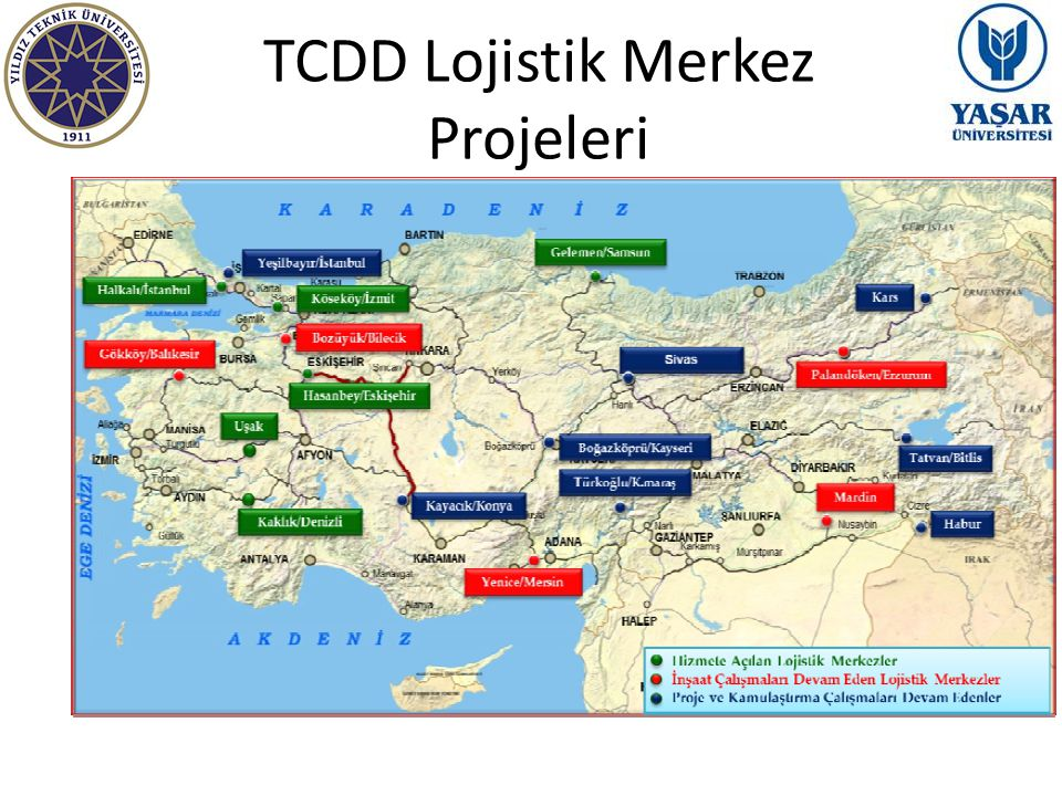 TCDD Lojistik Merkez Projeleri Turkish National Railways investments