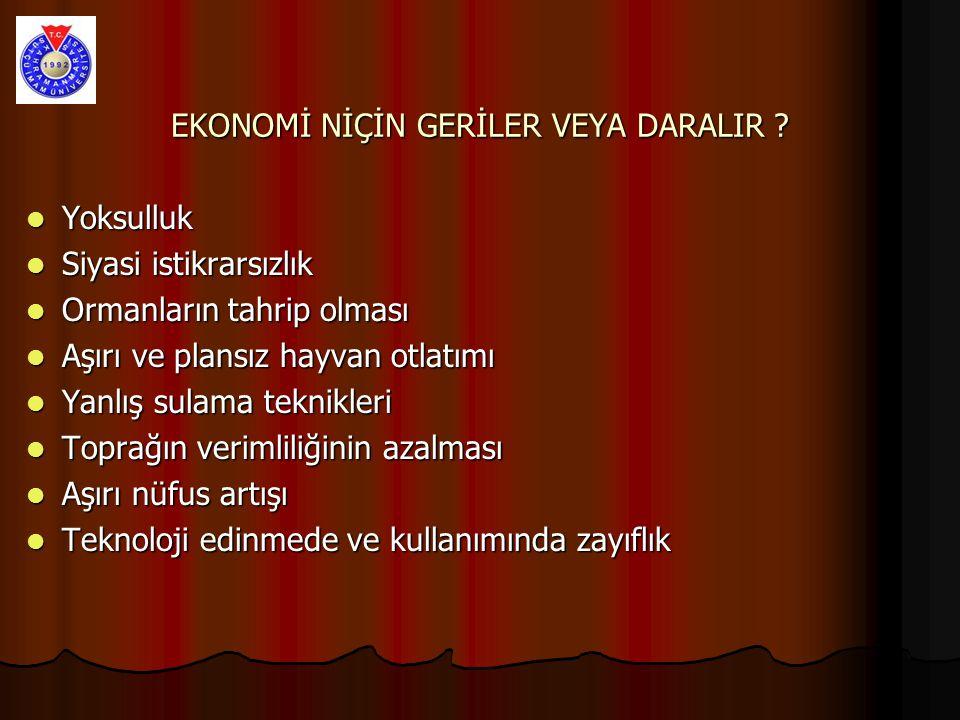 EKONOMİ NİÇİN GERİLER VEYA DARALIR .