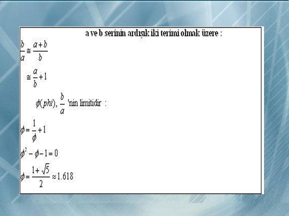 ALTIN ORAN NEDİR? Fibonacci sayılarının ilginç bir özelliği vardır. Dizideki bir sayıyı kendinden önceki sayıya böldüğünüzde birbirine çok yakın sayıl