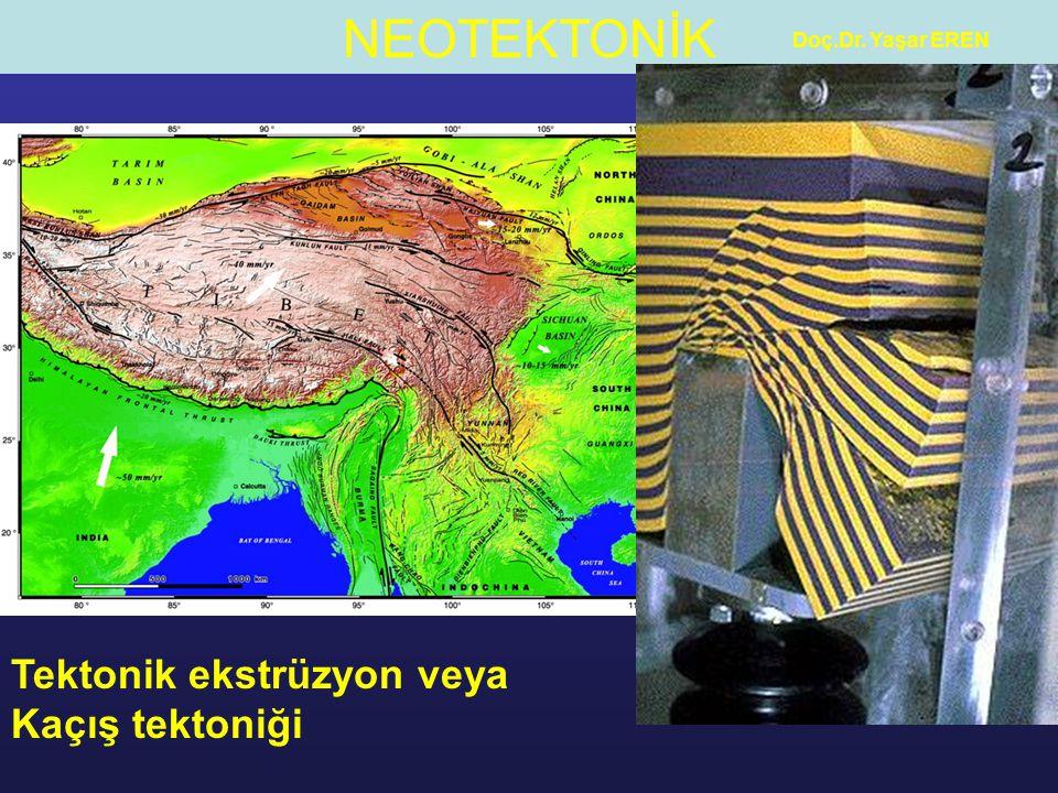 NEOTEKTONİK Doç.Dr.Yaşar EREN Havzaları sınırlayan faylar tarihsel bir çok deprem oluşturmuştur.