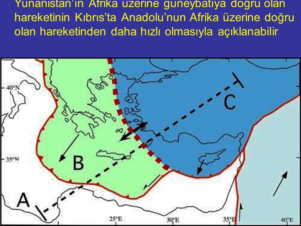 NEOTEKTONİK Doç.Dr. Yaşar EREN Ege-Batı Anadolu riftinin açılması kinematik olarak, Yunanistan'ın Afrika üzerine güneybatıya doğru olan hareketinin Kı