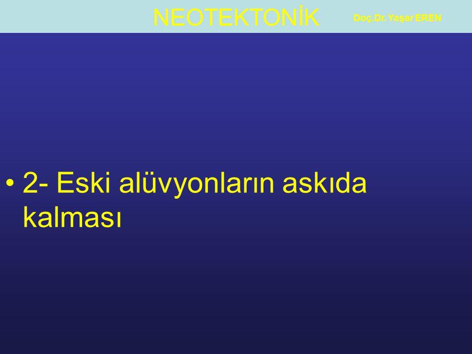 NEOTEKTONİK Doç.Dr. Yaşar EREN 2- Eski alüvyonların askıda kalması