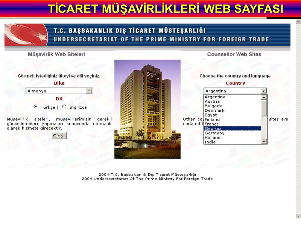 TİCARET MÜŞAVİRLİKLERİ WEB SAYFASI