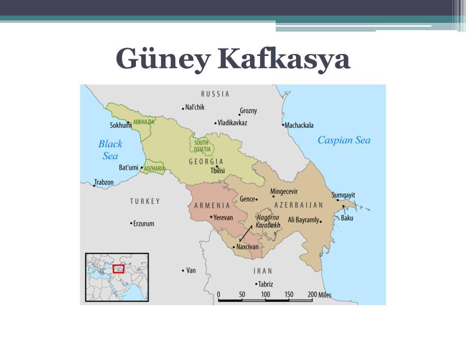 Azerbaycan 1918-1920 18 Ekim 1991 86,600 km2 9,3 milyon Gürcistan 1918-1921 9 Nisan 1991 69,700 km2 4,9 milyon Ermenistan 1918-1920 21 Eylül 1991 29,743 km 2 3 milyon Güney Kafkasya