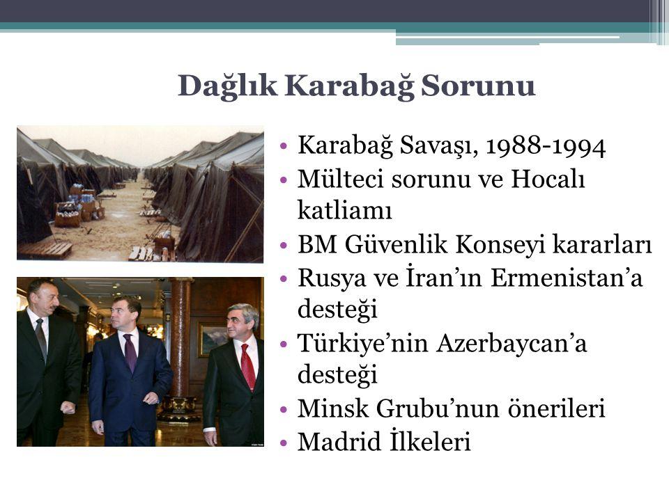 Dağlık Karabağ Sorunu Karabağ Savaşı, 1988-1994 Mülteci sorunu ve Hocalı katliamı BM Güvenlik Konseyi kararları Rusya ve İran'ın Ermenistan'a desteği
