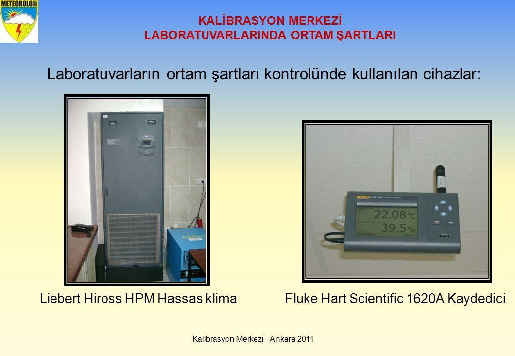 Kalibrasyon Merkezi - Ankara 2011 KALİBRASYON MERKEZİ LABORATUVARLARINDA ORTAM ŞARTLARI Laboratuvarların ortam şartları kontrolünde kullanılan cihazla