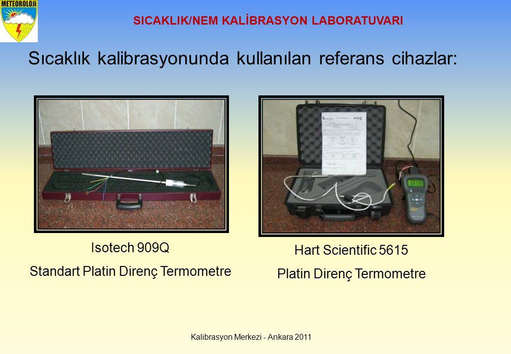 SICAKLIK/NEM KALİBRASYON LABORATUVARI Sıcaklık kalibrasyonunda kullanılan referans cihazlar: Isotech 909Q Standart Platin Direnç Termometre Kalibrasyo