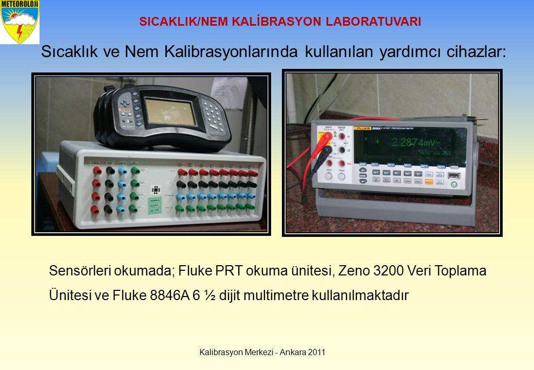 SICAKLIK/NEM KALİBRASYON LABORATUVARI Sıcaklık ve Nem Kalibrasyonlarında kullanılan yardımcı cihazlar: Sensörleri okumada; Fluke PRT okuma ünitesi, Ze