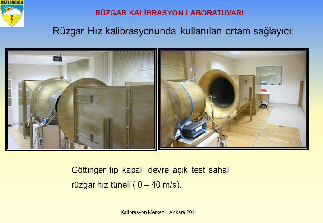 Kalibrasyon Merkezi - Ankara 2011 RÜZGAR KALİBRASYON LABORATUVARI Rüzgar Hız kalibrasyonunda kullanılan ortam sağlayıcı: Göttinger tip kapalı devre aç