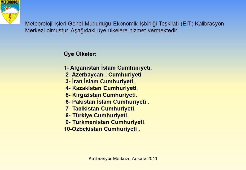 Kalibrasyon Merkezi - Ankara 2011 Meteoroloji İşleri Genel Müdürlüğü Ekonomik İşbirliği Teşkilatı (EİT) Kalibrasyon Merkezi olmuştur. Aşağıdaki üye ül