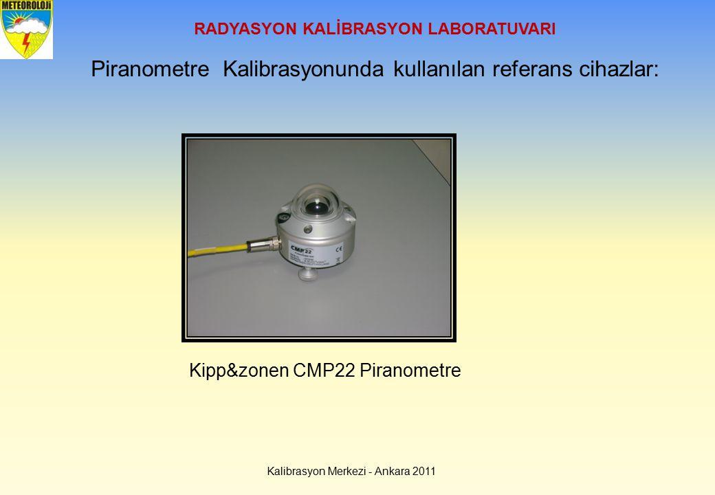 Kalibrasyon Merkezi - Ankara 2011 RADYASYON KALİBRASYON LABORATUVARI Piranometre Kalibrasyonunda kullanılan referans cihazlar: Kipp&zonen CMP22 Pirano