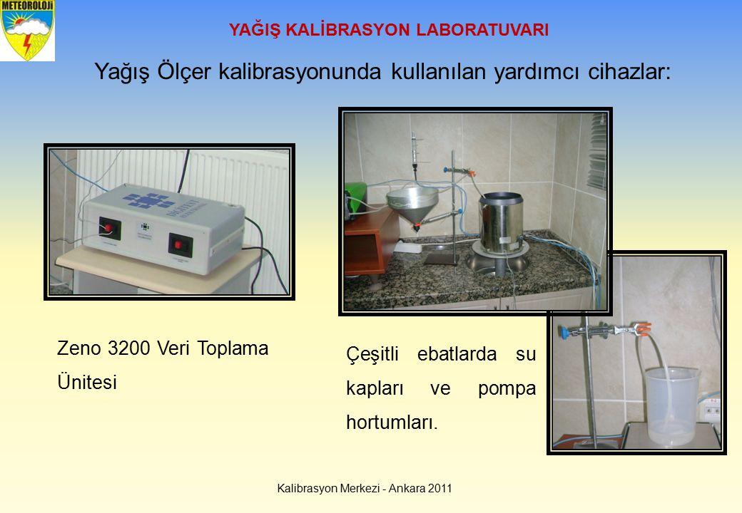 Kalibrasyon Merkezi - Ankara 2011 YAĞIŞ KALİBRASYON LABORATUVARI Yağış Ölçer kalibrasyonunda kullanılan yardımcı cihazlar: Zeno 3200 Veri Toplama Ünit