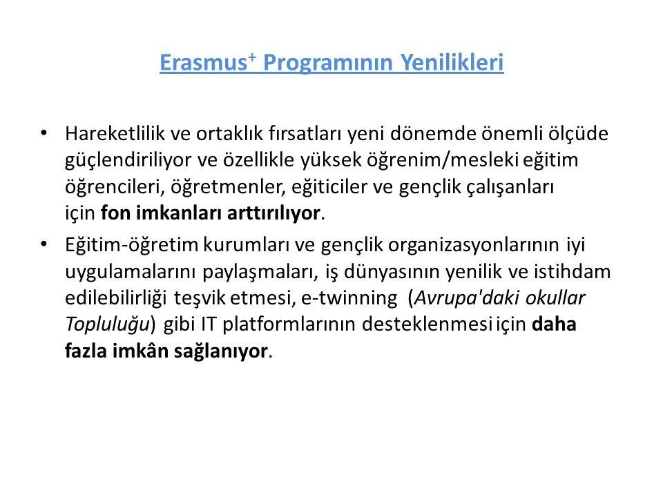 Erasmus + Hangi Alanları Destekleyecek.