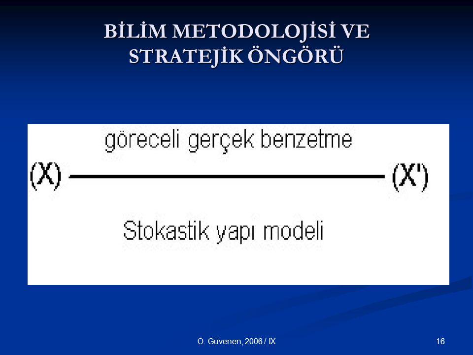 16O. Güvenen, 2006 / IX BİLİM METODOLOJİSİ VE STRATEJİK ÖNGÖRÜ