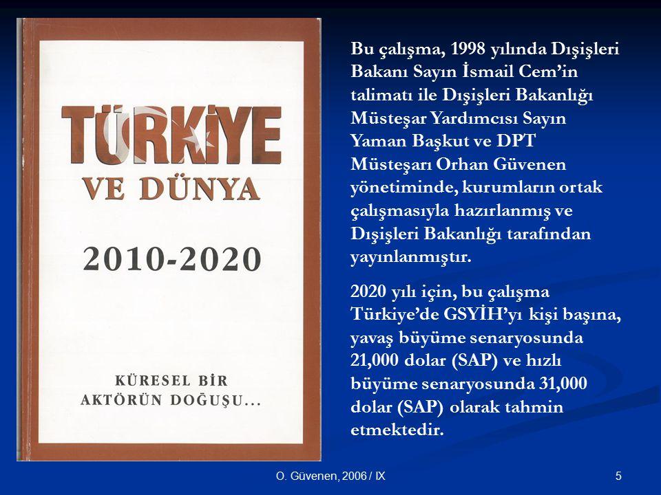 5O. Güvenen, 2006 / IX Bu çalışma, 1998 yılında Dışişleri Bakanı Sayın İsmail Cem'in talimatı ile Dışişleri Bakanlığı Müsteşar Yardımcısı Sayın Yaman