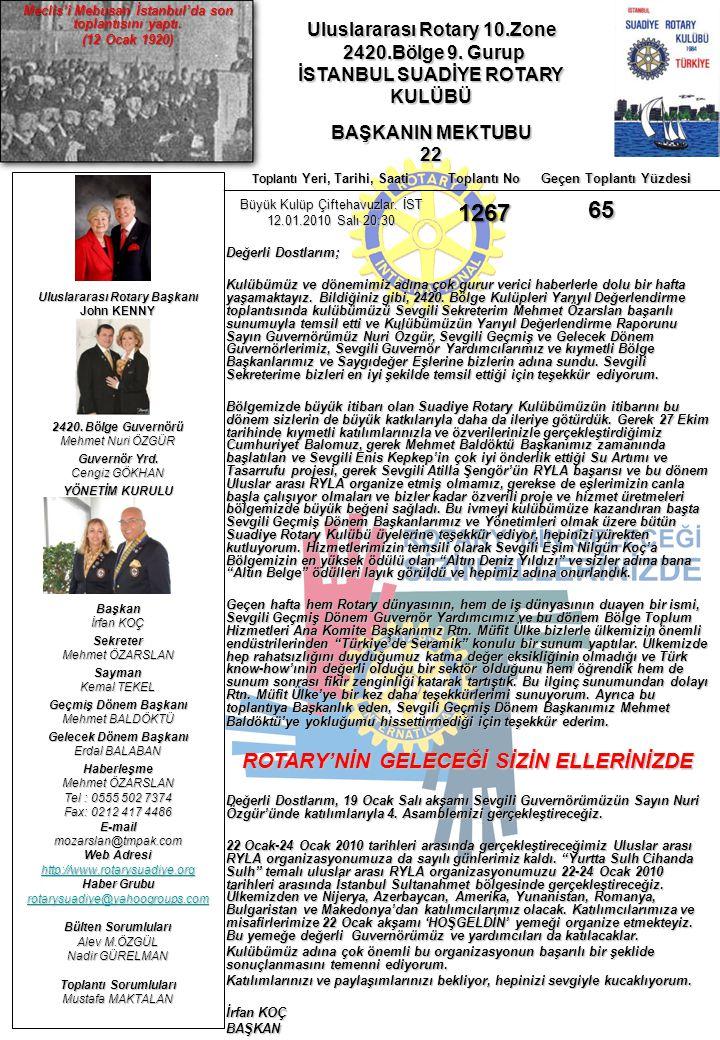 Uluslararası Rotary 10.Zone 2420.Bölge 9.Gurup 2420.Bölge 9.