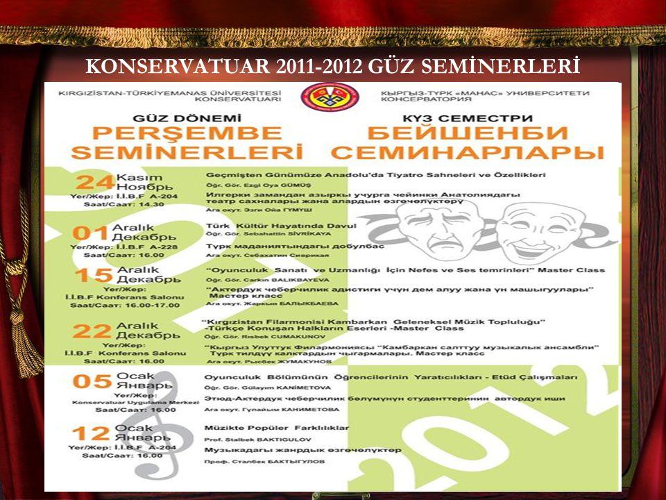 KONSERVATUAR 2011-2012 GÜZ SEMİNERLERİ