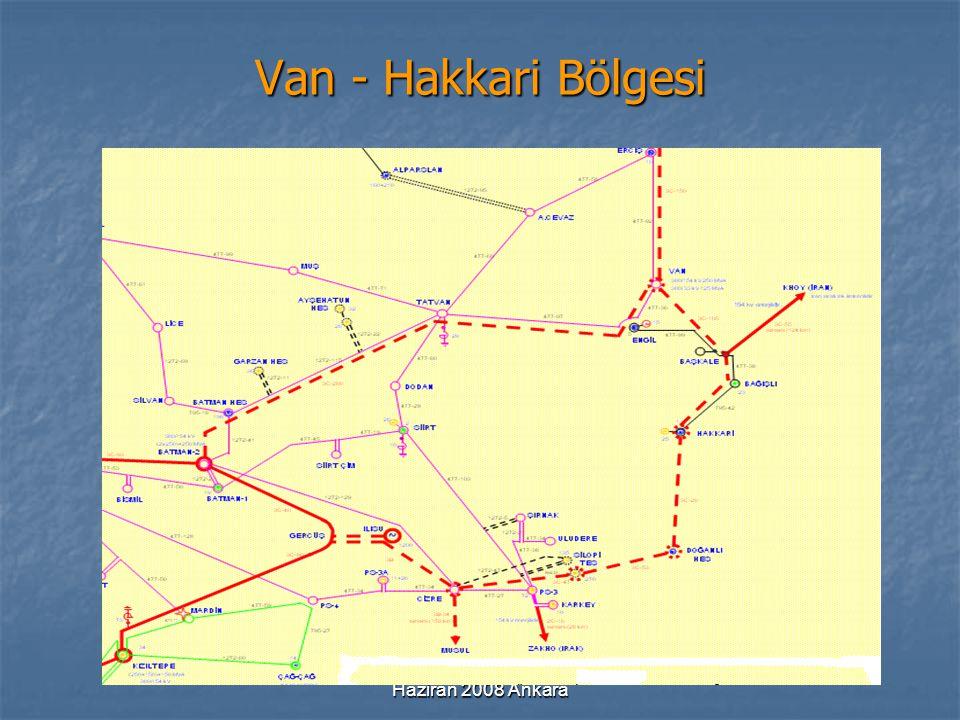 Haziran 2008 Ankara Van - Hakkari Bölgesi