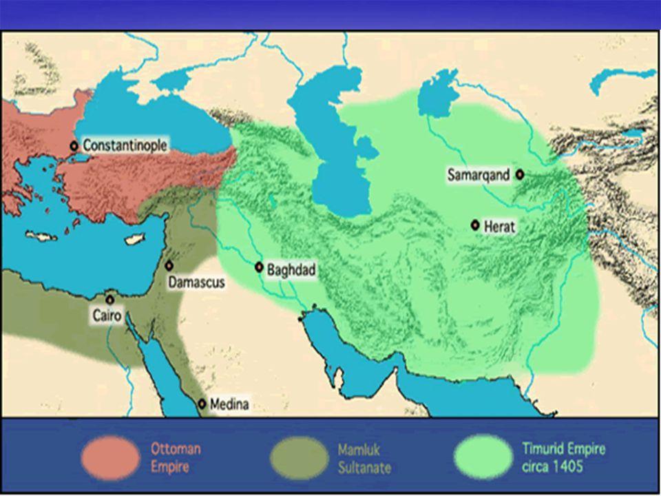  Aslen bir Türk beyi olan Timur, Çağatay Hanlığı'na son vererek Türkistan da devletini kurdu.