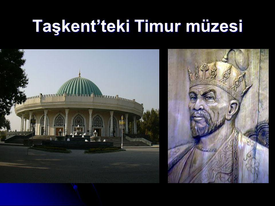 Taşkent'teki Timur müzesi