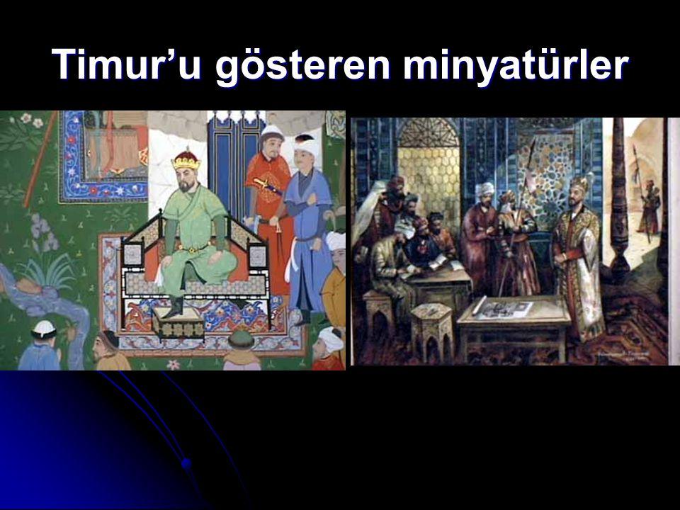 Timur'u gösteren minyatürler