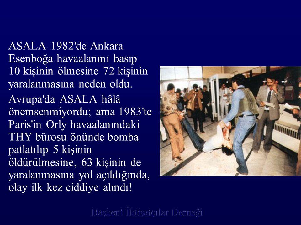 ASALA 1982'de Ankara Esenboğa havaalanını basıp 10 kişinin ölmesine 72 kişinin yaralanmasına neden oldu. Avrupa'da ASALA hâlâ önemsenmiyordu; ama 1983