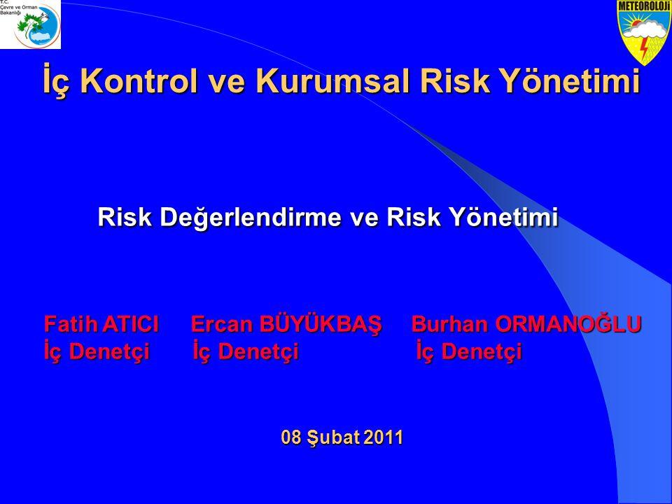 08 Şubat 2011 Risk Değerlendirme ve Risk Yönetimi Fatih ATICI Ercan BÜYÜKBAŞ Burhan ORMANOĞLU İç Denetçi İç Denetçi İç Denetçi Fatih ATICI Ercan BÜYÜK