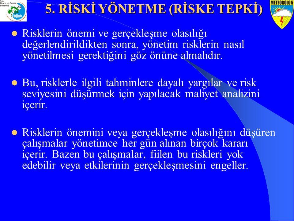 Risklerin önemi ve gerçekleşme olasılığı değerlendirildikten sonra, yönetim risklerin nasıl yönetilmesi gerektiğini göz önüne almalıdır. Bu, risklerle