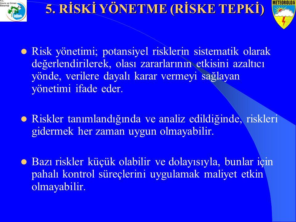 Risk yönetimi; potansiyel risklerin sistematik olarak değerlendirilerek, olası zararlarının etkisini azaltıcı yönde, verilere dayalı karar vermeyi sağ