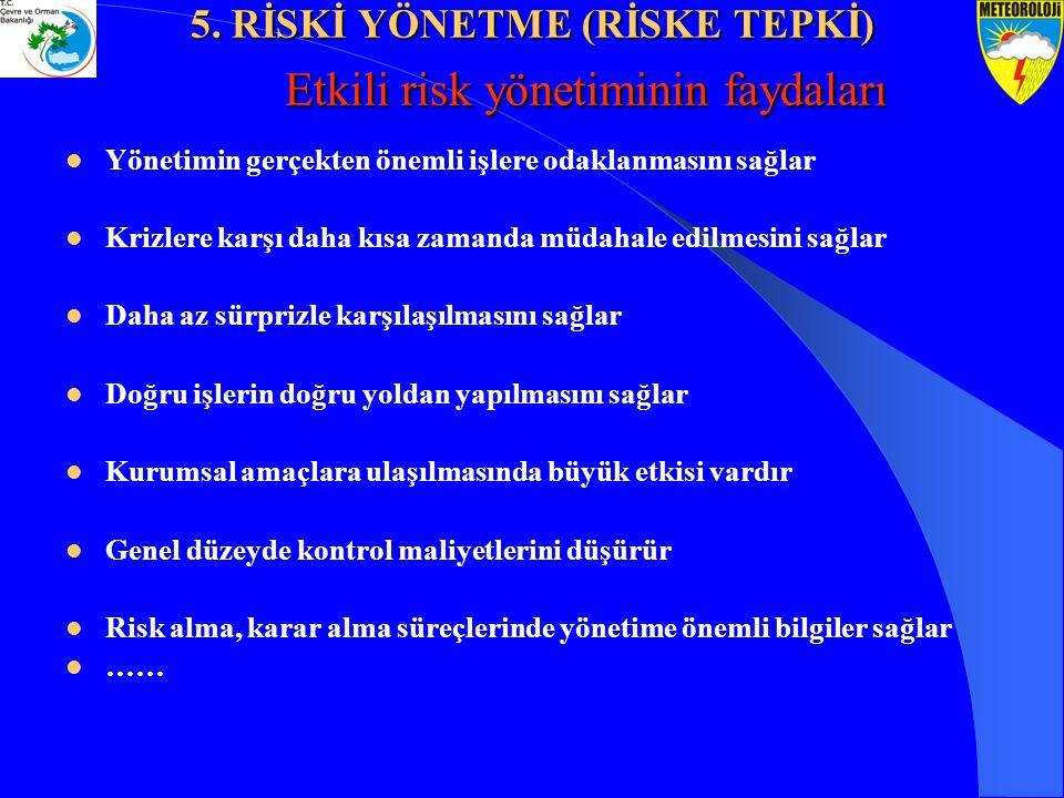Etkili risk yönetiminin faydaları Etkili risk yönetiminin faydaları Yönetimin gerçekten önemli işlere odaklanmasını sağlar Krizlere karşı daha kısa za