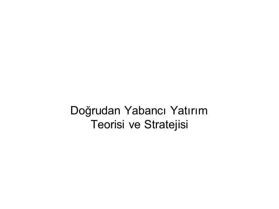 Doğrudan Yabancı Yatırım Teorisi ve Stratejisi