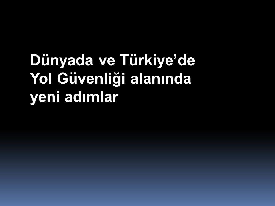 Dünyada ve Türkiye'de Yol Güvenliği alanında yeni adımlar