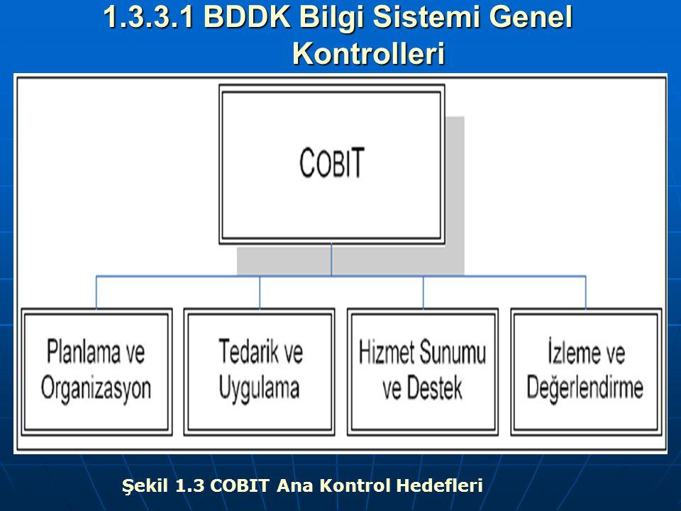 1.3.3.1 BDDK Bilgi Sistemi Genel Kontrolleri Şekil 1.3 COBIT Ana Kontrol Hedefleri