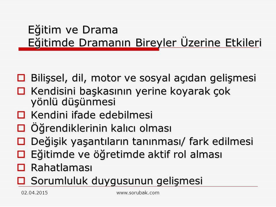 02.04.2015www.sorubak.com Drama Nedir.