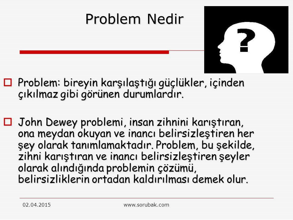 02.04.2015www.sorubak.com Probleme Dayalı Öğrenme (PDÖ) www.sorubak.com Katkılarıyla….