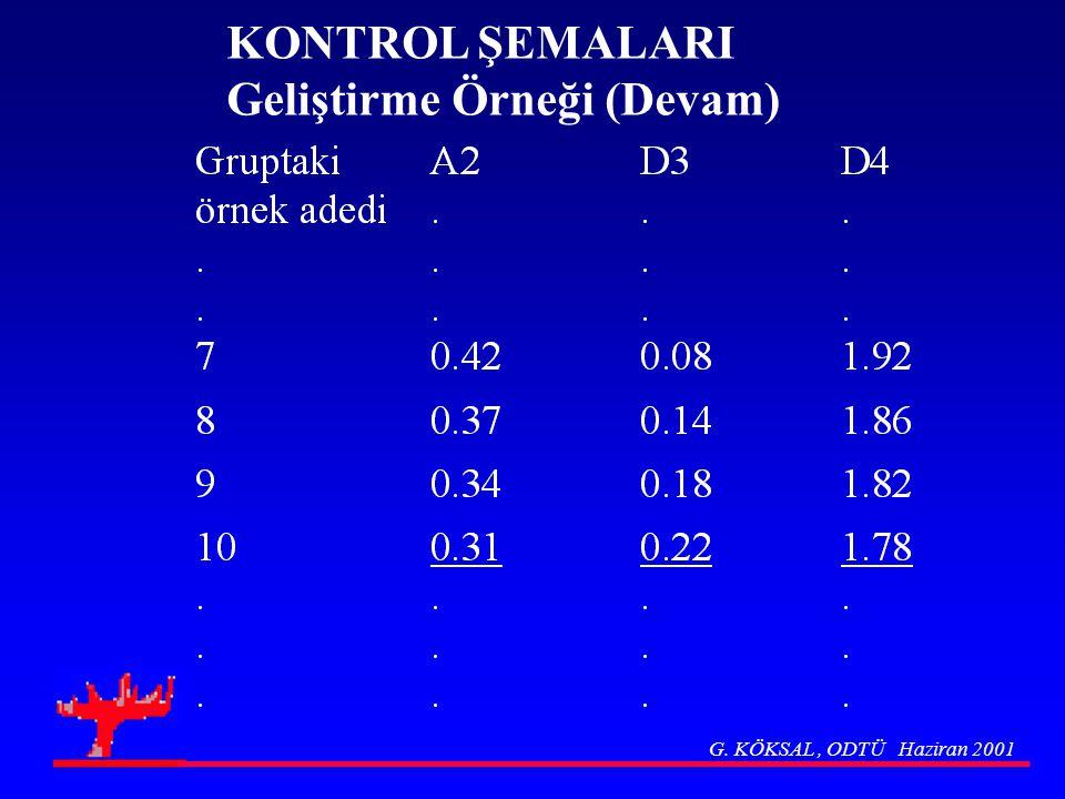 KONTROL ŞEMALARI Geliştirme Örneği (Devam)